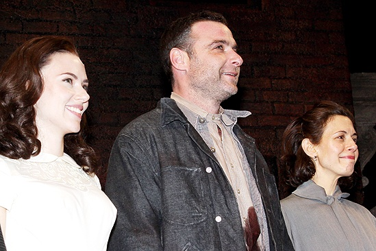 View from the Bridge Opening Night  Scarlett Johansson  Liev Schreiber  Jessica Hecht