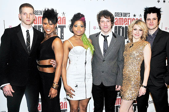 American Idiot Opening  Stark Sands  Christina Sajous  Rebecca Naomi Jones  John Gallagher Jr.  Mary Faber  Michael Esper
