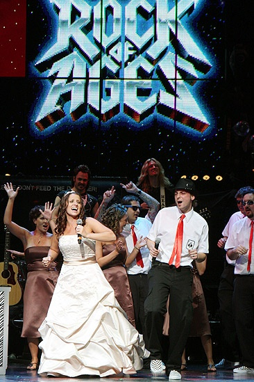 Rock of Ages wedding  Sharyn Krum  Paul Fontana singing  again
