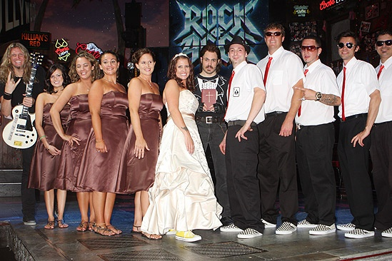 Rock of Ages wedding – bridal party – groomsmen – Mitch Jarvis