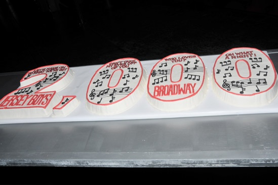 Jersey Boys 2,000th Performance – cake