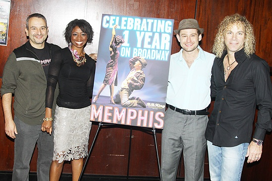Memphis First Anniversary on Broadway – Joe DiPietro – Chad Kimball – Montego Glover – David Bryan
