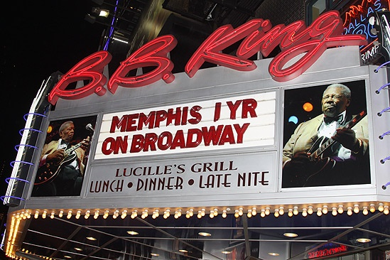 Memphis First Anniversary on Broadway – sign