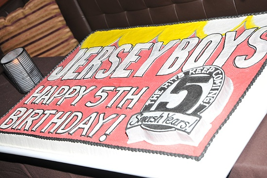 Jersey Boys Fifth Anniversary  cake