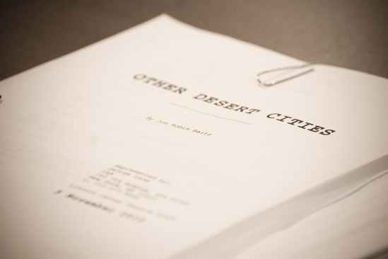 Other Desert Cities Rehearsal – script