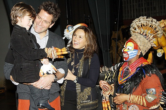 Mariska Hargitay at The Lion King – August Hermann – Peter Hermann – Mariska Hargitay – Tshidi Manye