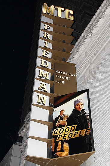 Good People Opening Night – marquee