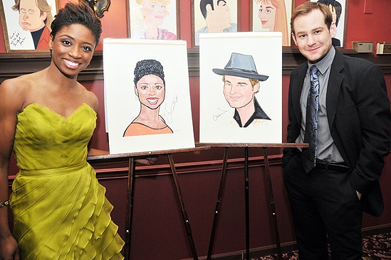 Chad and Montego Sardi's caricatures – Montego Glover – Chad Kimball (with portraits)