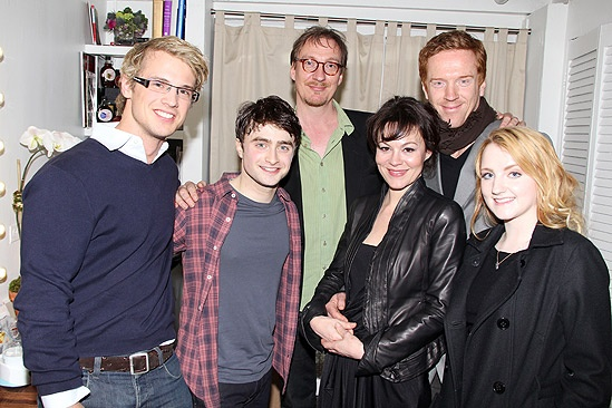 Tori Spelling Visits Daniel Radcliffe  Freddie Stroma  Daniel Radcliffe  David Thewlis  Helen McCrory  Damian Lewis  Evanna Lynch 