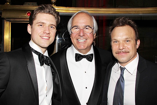 Catch Me If You Can Opening Night  Aaron Tveit  Frank Abagnale Jr.  Norbert Leo Butz (party)