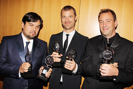 2011 Tony Awards Winners Circle – Robert Lopez – Matt Stone – Trey