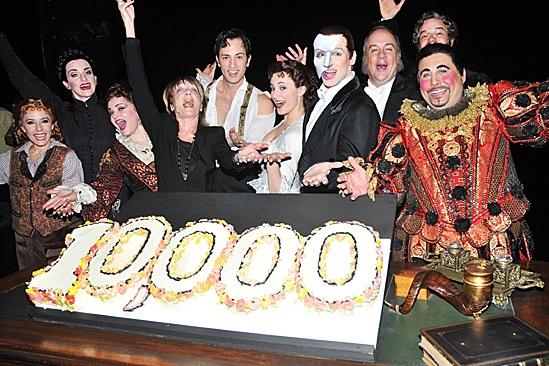 Phantom of the Opera – 10,000 Performance – Heather McFadden – Cristin J. Hubbard – Michele McConnell – Gillian Lynne – Kyle Barisich – Trista Moldovan – Hugh Panaro – Kevin Ligon – Aaron Galligan-Stierle – Christian Sebek