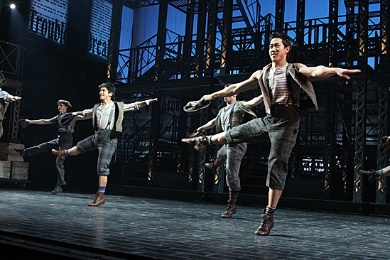 Newsies – Opening Night – Aaron J. Albano – Alex Wong – cast