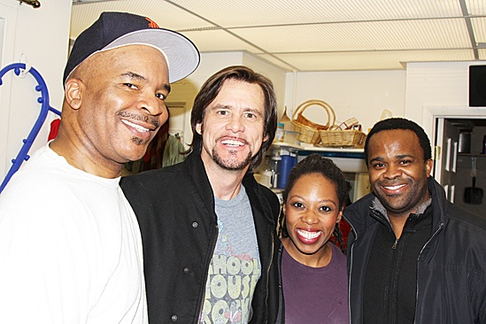 Jim Carrey at Porgy and Bess – David Alan Grier – Jim Carrey – Andrea Jones-Sojola – Phumzile Sojola