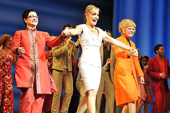 Mamma Mia  2012 New Cast Opening Night  Lauren Cohn  Judy McLane  Felicia Finley