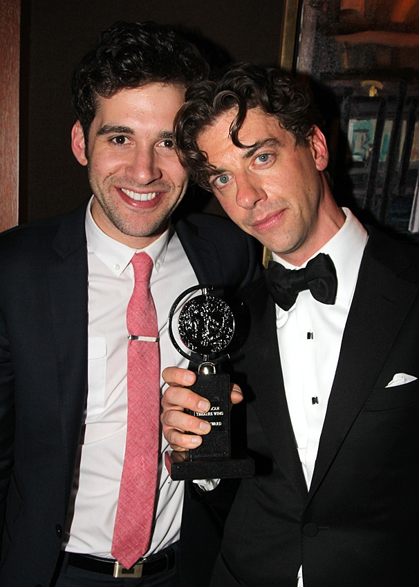 2012 Tony Awards  O&amp;M After Party  Adam Chanler-Berat  Christian Borle