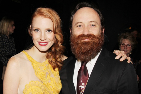 The Heiress  Opening Night  Jessica Chastain  Leon Rothenberg