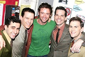 Hugh Jackman at Jersey Boys - John Lloyd Young - Christian Hoff - Hugh Jackman - J.Robert Spencer - Daniel Reichard