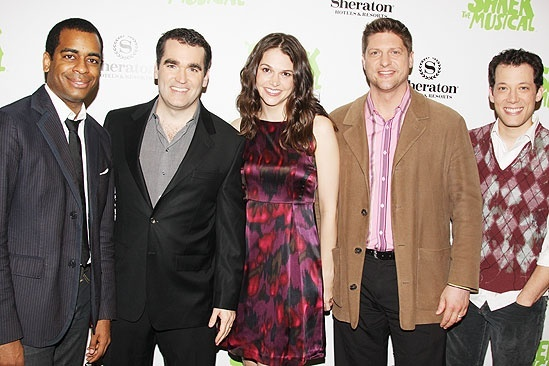 Shrek NYC Meet and Greet - Sutton Foster - Daniel Breaker - Brian d'Arcy James - Christopher Sieber - John Tartaglia