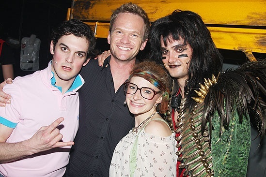 Random celebs at ROA  Wesley Taylor - Neil Patrick Harris  Lauren Molina  Jeremy Woodard