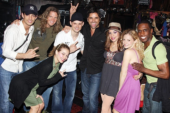 John Stamos at Rock of Ages - James Carpinello - Joel Hoekstra - Savannah Wise - Jeremy Woodard - John Stamos - Angel Reed - Lauren Molina - Andre Ward