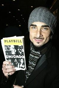 Kevin Richardson 1st Chicago Perf - Kevin Richardson w/playbill