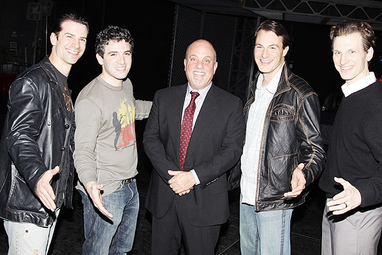 Billy Joel at Jersey Boys – Dominic Nolfi – Jarrod Spector – Billy Joel – Matt Bogart – Sebastian Arcelus
