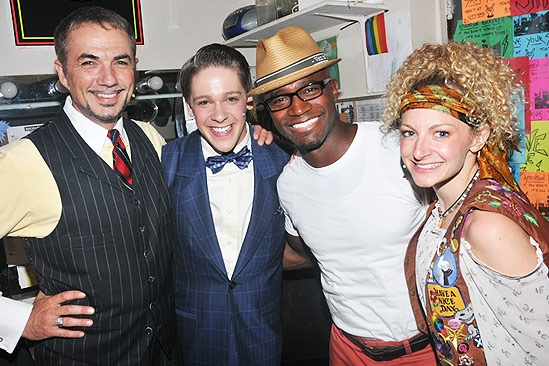 Taye Diggs at Rock of Ages  Paul Schoeffler  Derek St. Pierre  Taye Diggs  Lauren Molina 