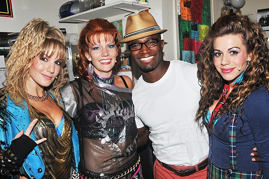 Taye Diggs at Rock of Ages  Katie Webber  Jenifer Foote  Taye Diggs  Angel Reed