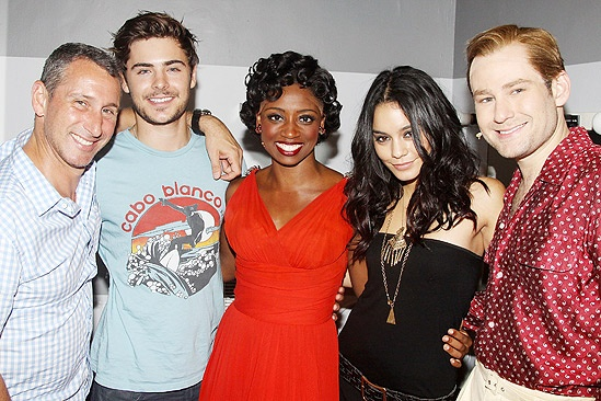 Zac Efron and Vanessa Hudgens at Memphis  Adam Shankman  Zac Efron  Montego Glover  Vanessa Hudgens  Chad Kimball