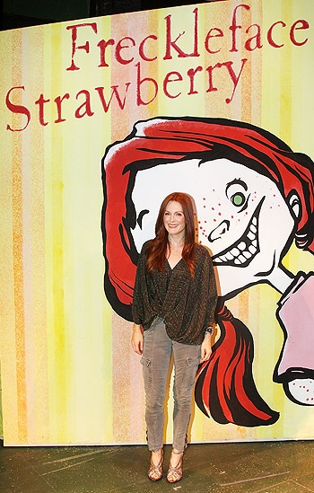 Julianne Moore at Freckleface Strawberry – Julianne Moore (book cover)
