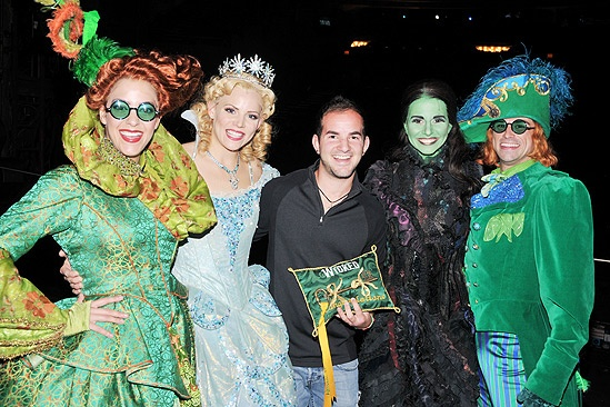 Wicked 5 Millionth Audience Member  Briana Yacavone - Katie Rose Clarke  Brett LaTorre - Mandy Gonzalez  Jonathan Warren