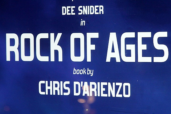 Dee Snider Rock of Ages opening night – poster