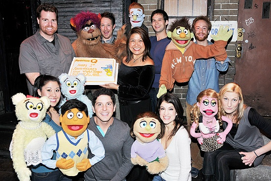 Avenue Q off bway anniversary  cast