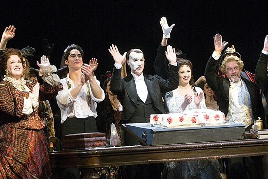 Phantom of the Opera 23rd Anniversary  waving with cake