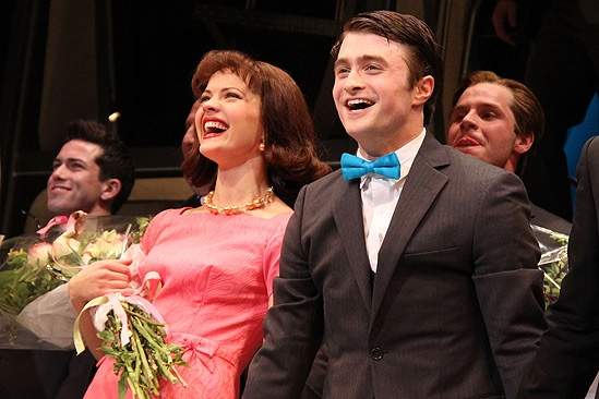 How to Succeed Opening Night  Rose Hemingway  Daniel Radcliffe (curtain call)
