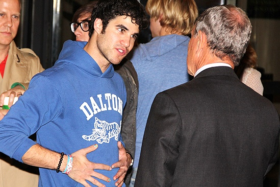 Glee NYC  Darren Criss  Mayor Bloomberg