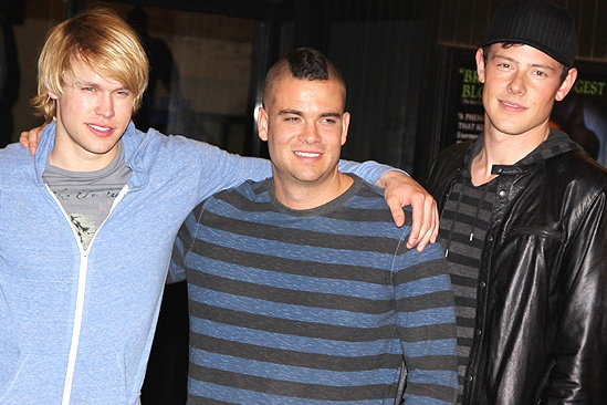 Glee NYC  Chord Overstreet  Mark Sailing  Cory Monteith