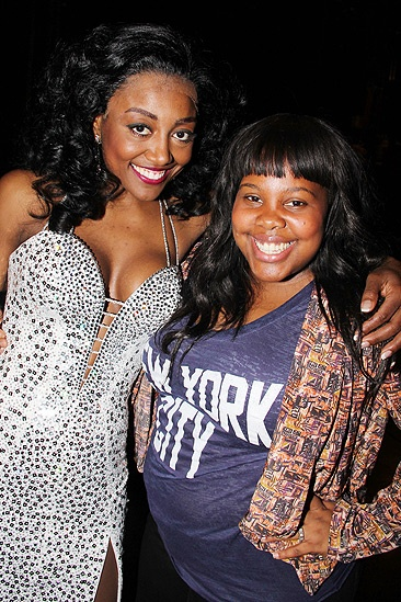 Glee Cast at Sister Act – Patina Miller – Amber Riley