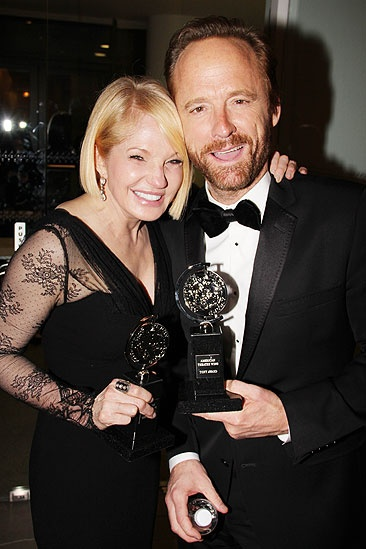 2011 Tony Awards Winners Circle  Ellen Barkin  John Benjamin Hickey