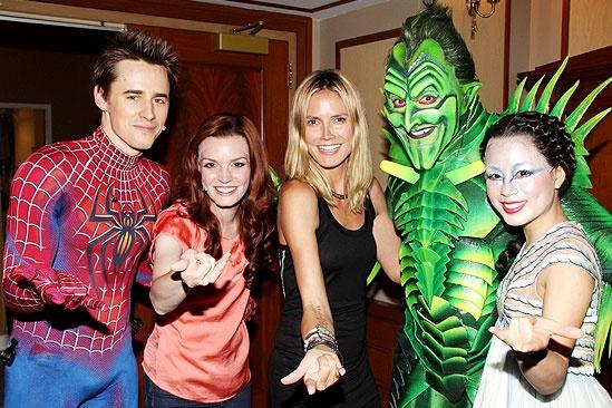 Spider-Man Heidi - Reeve Carney - Jennifer Damiano - Heidi Klum - Patrick Page -T.V. Carpio