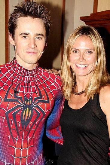 Heidi Spider-Man - Reeve Carney - Heidi Klum
