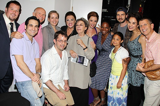 Zoe Caldwell and Audra McDonald at Master Class – group shot