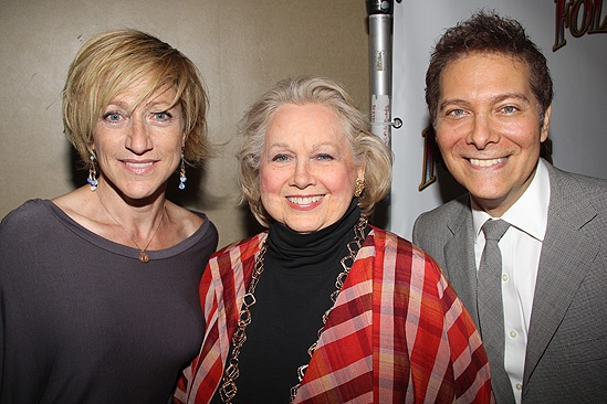 <i>Follies</i> opening night – Edie Falco – Barbara Cook – Michael Feinstein