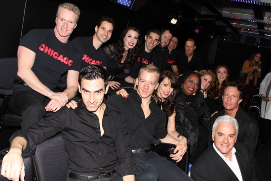 Chicago 15th Broadway Anniversary  cast shot on bus