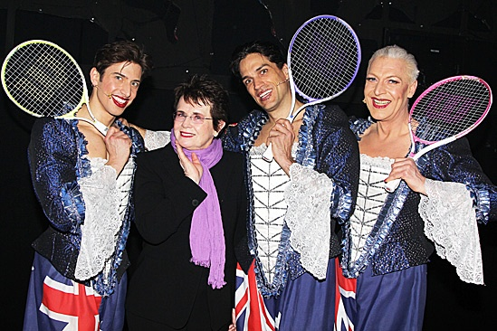 Priscilla Queen of the Desert- Nick Adams, Billie Jean King, Will Swenson and Tony Sheldon