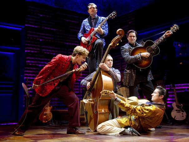 Show Photos - Million Dollar Quartet - Eric Stang - Robert Britton Lyons - Lance Guest - Eddie Clendening