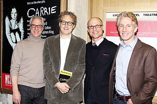 Carrie - Robert LuPone, Bernie Telsey, Will Cantler and  Blake West