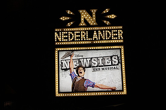 Newsies – Nick Jonas Visit – marquee