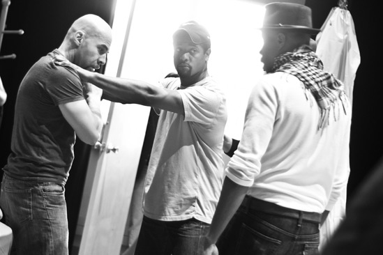 Streetcar Named Desire rehearsal – Jacino Taras Riddick – Blair Underwood – Wood Harris